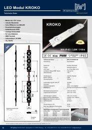 KROKO LED Module - Effiziente Ausleuchtung großer und tiefer Leuchtkästen  - NP LIGHTING