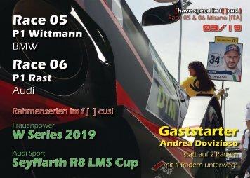 DTM 2019 - Race 05|06  Misano - {have speed in f[ ]cus!} Das Online-Magazin zur DTM!
