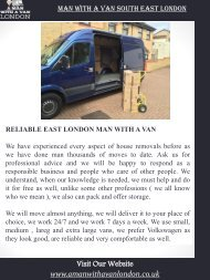 Man With A Van South East London