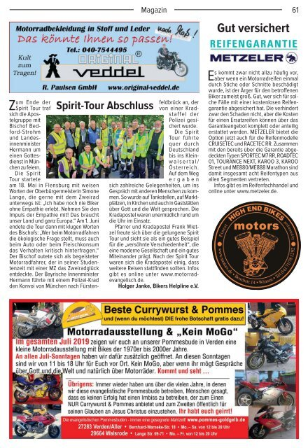 Kradblatt Ausgabe Juli 2019