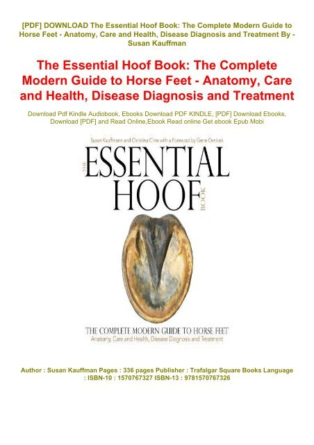 Download [PDF] *The Essential Hoof Book: The Complete Modern