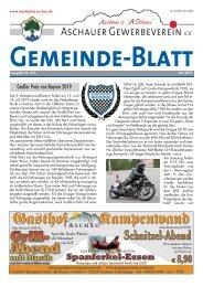 Aschauer Gemeindeblatt Juli 2019