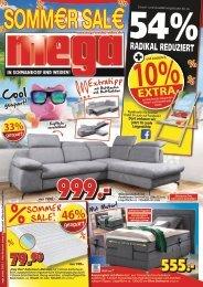 Summer Sale bei mega Möbel in Schwandorf und Weiden