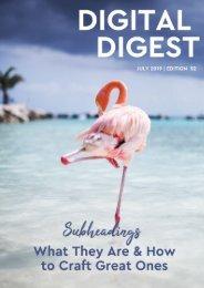 Digital Digest - JULY '19 - Edition 52