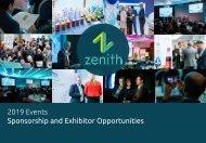 Zenith Global's 2019 sponsor and exhibitor opportunites