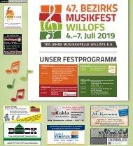 Bezirksmusikfest Willofs