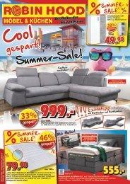 Cool gespart! Summer-Sale bei Robin Hood - Möbel & Küchen in 78166 Donaueschingen