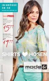 Shirt und Hosen Prospekt