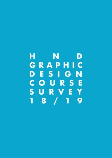 HND Graphic Design Suvery 18/19