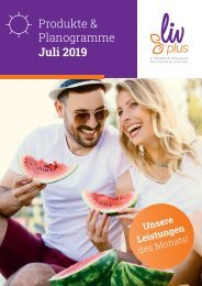 LIVPLUS Produkte & Planogramme Juli 2019