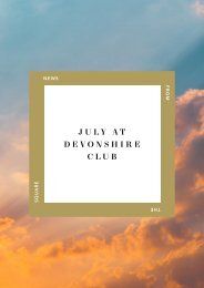 July Events at Devonshire Club