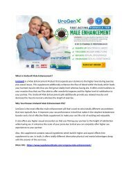 UroGenX Male Enhancement Reviews: Order Now To Increase Libido & Sex Drive