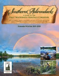 2019-20 Southern Adirondacks Guide to the First Wilderness Heritage Corridor