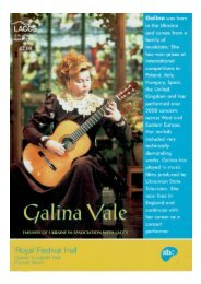 Galina Vale - Royal Festival Hall (London) LACCS