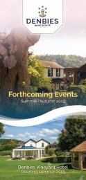Forthcoming Events Summer/Autumn 2019