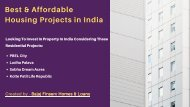 Best & Affordable Housing Projects in India