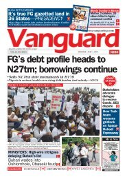 01072019 - FG's debt profile heads to N27trn; borrowings continue