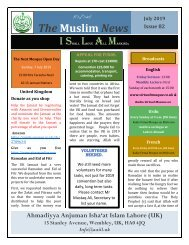 Muslim News No 82 July 2019