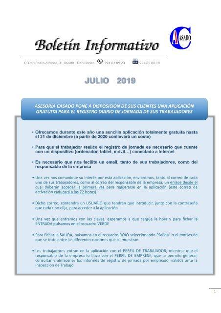 BOLETIN JULIO