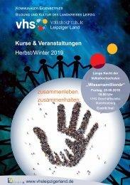 Kursprogramm VHS Leipziger Land Herbst-Winter 2019_lowres