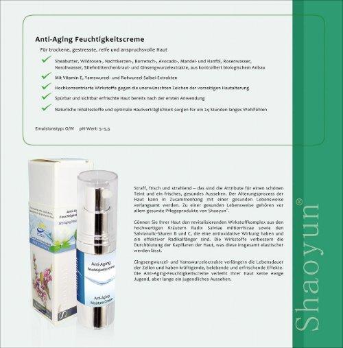 Hautpflege auf TCM Basis   Made in Germany