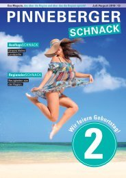 PINNEBERGER SCHNACK Juli/August 2019