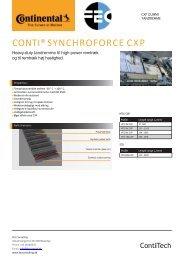 DATABLAD - CONTI SYNCHROFORCE CXP - DANSK
