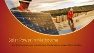 Solar Power in Melbourne - Energy Saving Soap
