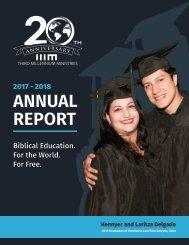 IIIM Annual Report 2017-2018