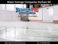 Best Water Damage Companies in Durham NC