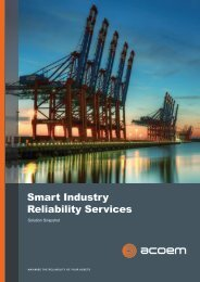ACOEM Smart Industry Reliability Services Solution Snapshot brochure