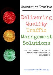 Construct Traffic - Delivering Quality Traffic Management Solutions