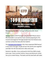 Neopop Festival 2019 – Portugal calling electronic music lovers!
