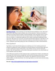 Sugar Balance Reviews: Pills Ingredients, Price, Benefits & Side Effects