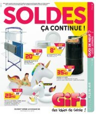 Gifi catalogue 2 Juillet-29 Juillet 2019
