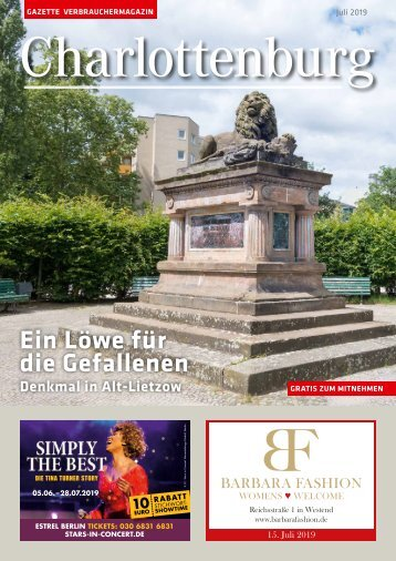 Gazette Charlottenburg Juli 2019