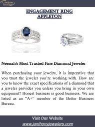 Engagement Rings Appleton | Call-920.729.1642 | janthonyjewelers.com