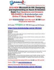 [2019-July-Version]New Braindump2go AI-100 PDF and AI-100 VCE Dumps Free Share(Q1-Q11)