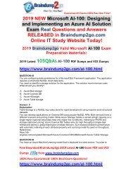 [2019-July-Version]New Braindump2go AI-100 PDF and VCE Dumps Free Share(Q45-Q55)