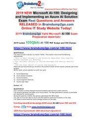 [2019-July-Version]New Braindump2go AI-100 VCE Dumps Free Share(Q23-Q33)