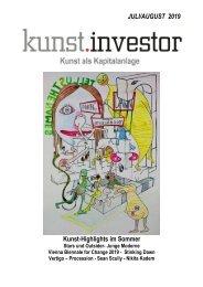 KUNSTINVESTOR AUSGABE JULI/AUGUST2019