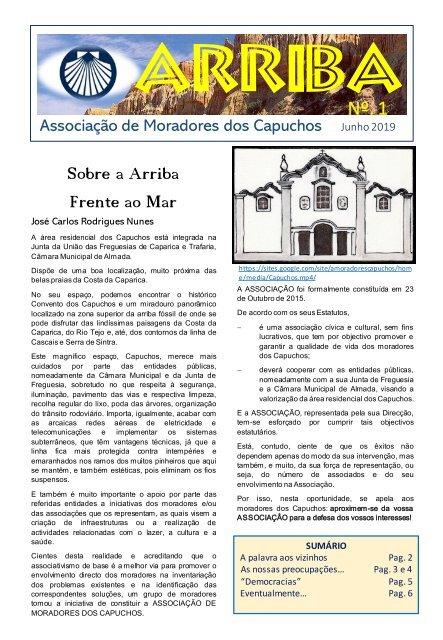 Jornal «Arriba» n.º 1