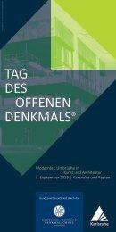 Programmheft Tag des offenen Denkmals Karlsruhe und Region 2019