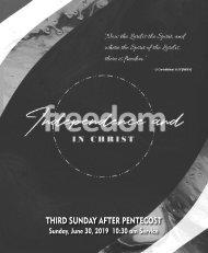 06_30_2019 1030 AM Service Third Sunday After Pentecost