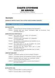 Charte citoyenne de services
