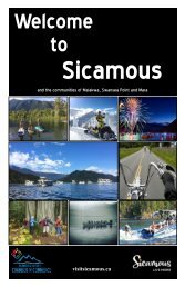 Welcome to Sicamous Brochure 2019