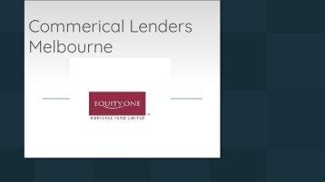 Commercial Lenders Melbourne