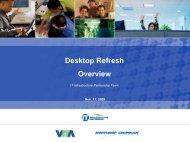Desktop Refresh Overview - the Virginia Information Technologies ...