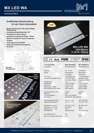 MX LED Platten Serie WA - selbst besonders flache Leuchtkästen, schnell bestücken  - NP LIGHTING