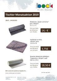 Monatsaktion Juli Tischler